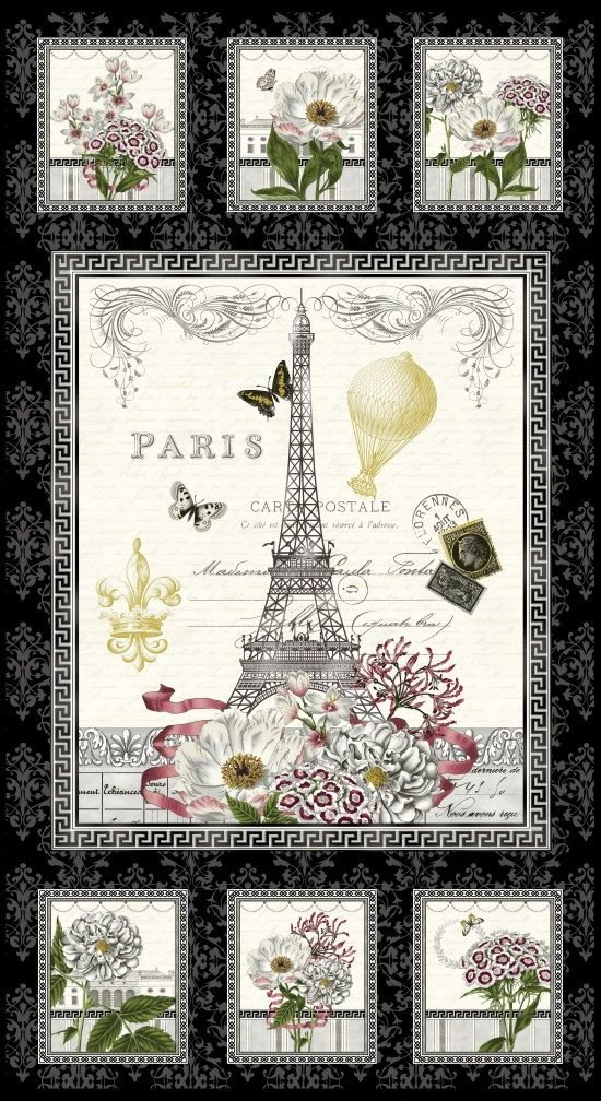 46) Salon Fleur Paris Panel by Studio Frivohle