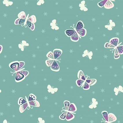 Fairy Nights A406.3 - Butterfly Glow on Teal