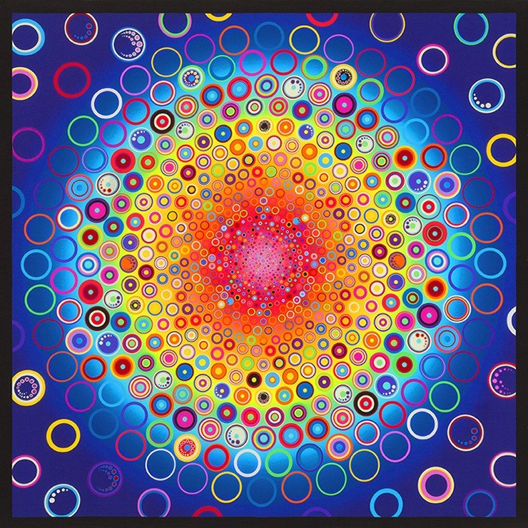07) Effervescence Rainbow Digital Print Panel 44in by Amelia Caruso