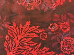 Hoffman Batiks Maroon Red Flower