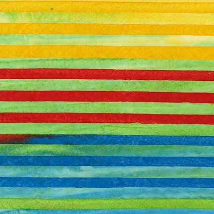 Aritsan Batiks Elementals Celebration Rainbow Lines Stripes