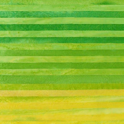 Aritsan Batiks Elementals Lime Green Yellow Lines Stripes