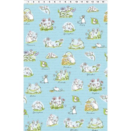 Daisy Light Sky Scene Mice Mouse