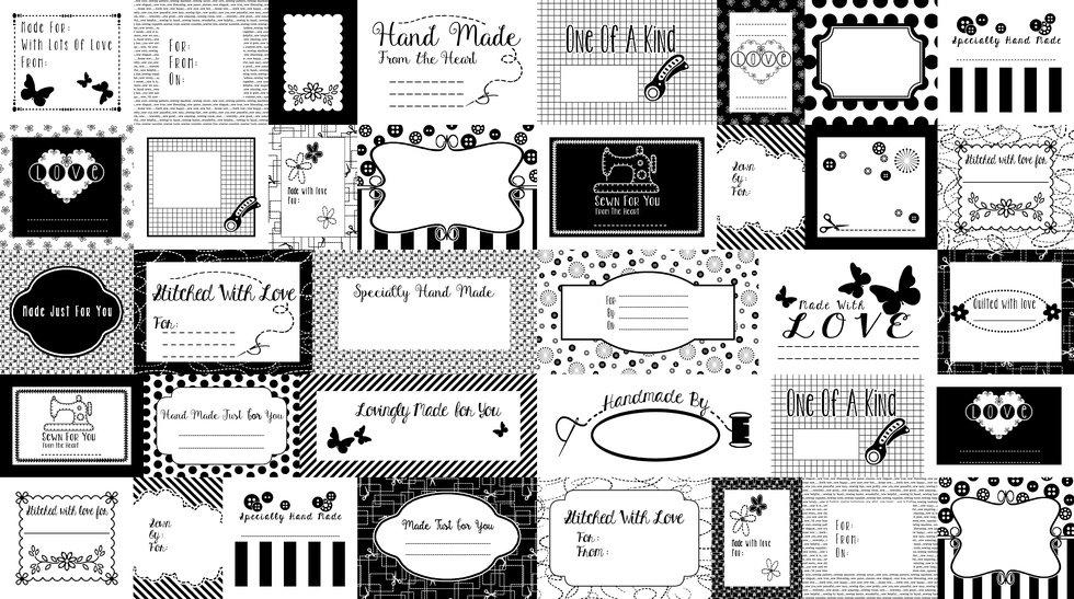 Small Talk - Quilt Labels