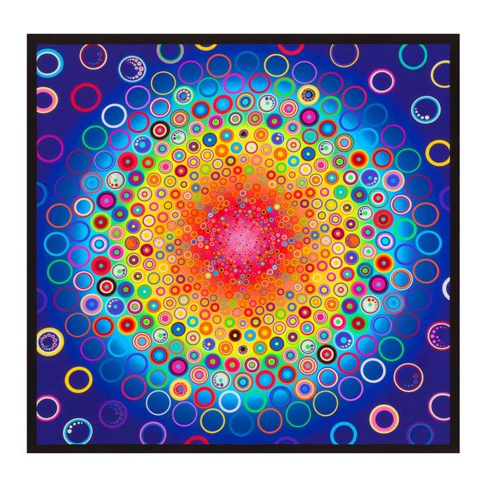 Effervescence Digital Circle Panel Rainbow