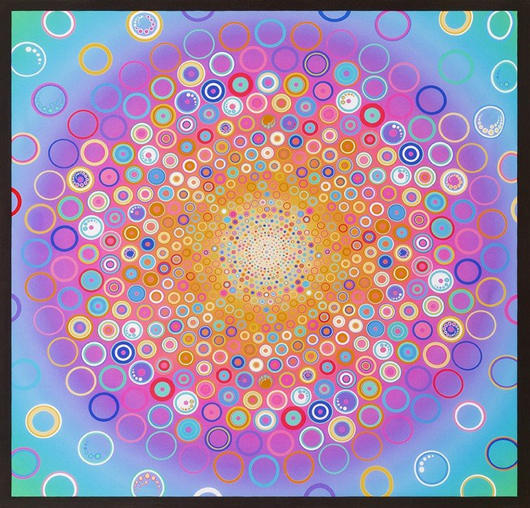 Effervescence Digital Circle Panel Pastel
