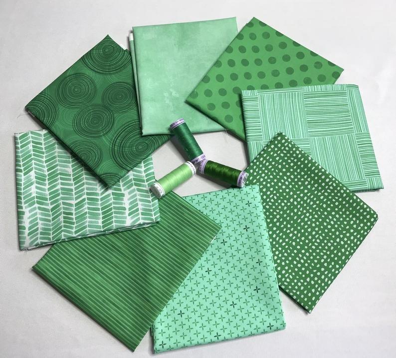 Fat Quarter Bundle Emerald Green