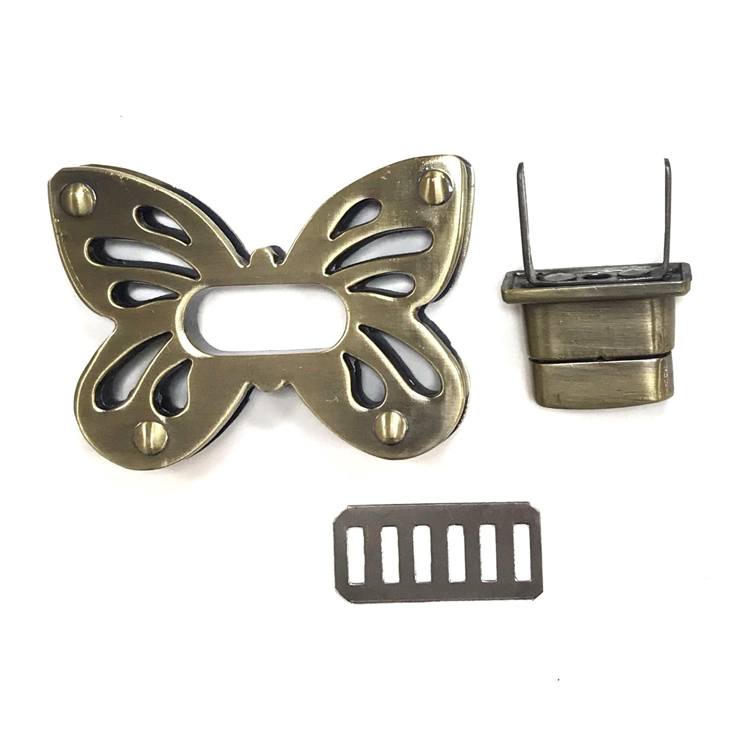 Butterfly Twist Lock- Antique Bronze