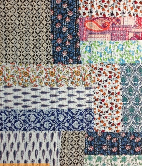 Kantha by Whistler Studios Embroidered Fabric