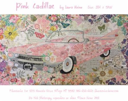 Pink Cadillac Laura Heine Fiberworks