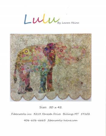 Lulu Elephant Collage by Laura Heine