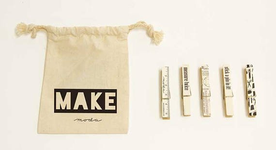 Make by Moda Clothespins Set