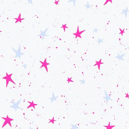 Snow Flowers - Kira Kira Boshi - Snow Neon Fabric