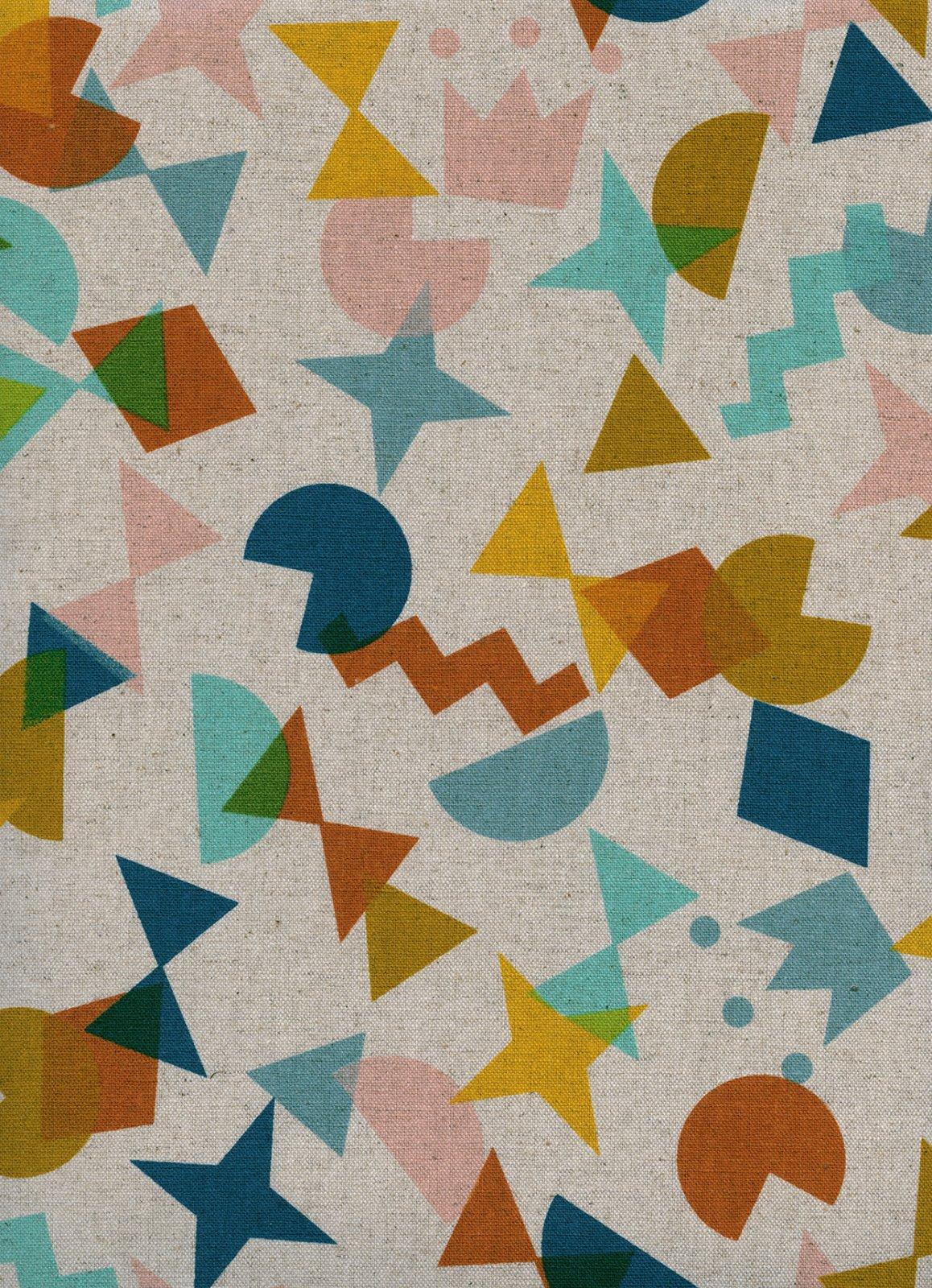 Paper Cuts Shape Up Topaz Canvas