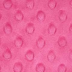 Minky Dimple Dot Solid Hot Pink