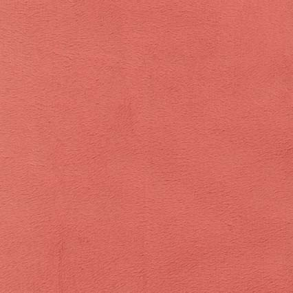 Minky Solid Salmon Pink