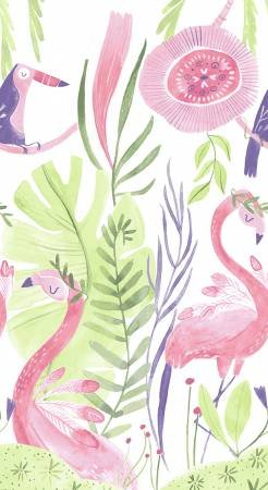 73) Pink Paradise Flamingo Panel 24 by Rae Ritchie