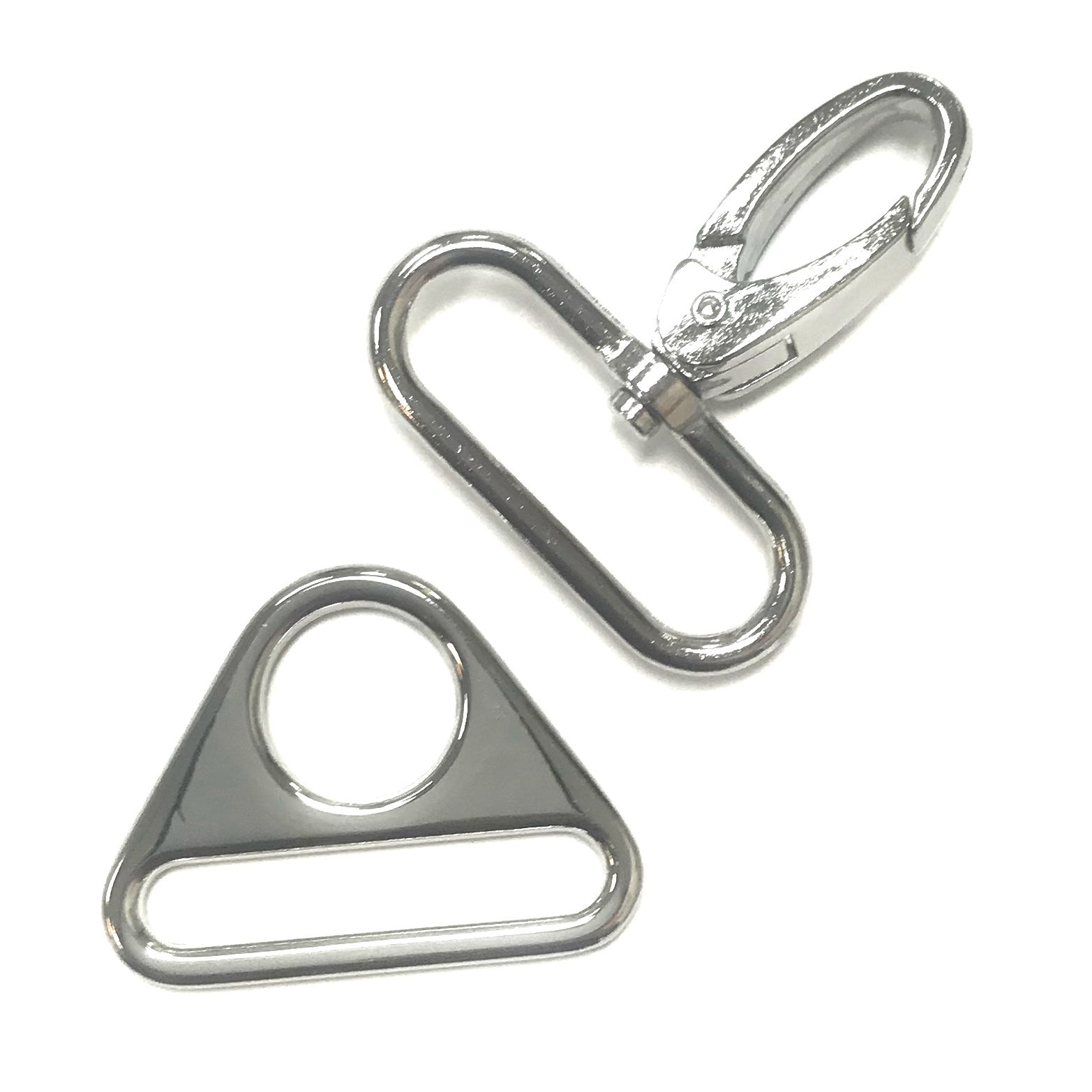 Lobster Claw Swivel & Triangle Ring Set - 1 1/2