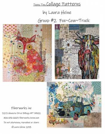 Teeny Tiny Collage Patterns Group 2 Fox Cow Truck