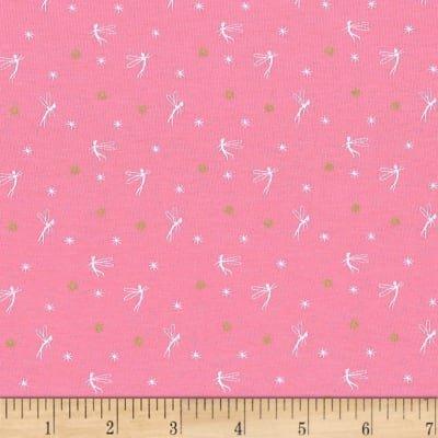 Tink On Pink Knit Fairy Stretch Jersey Knit