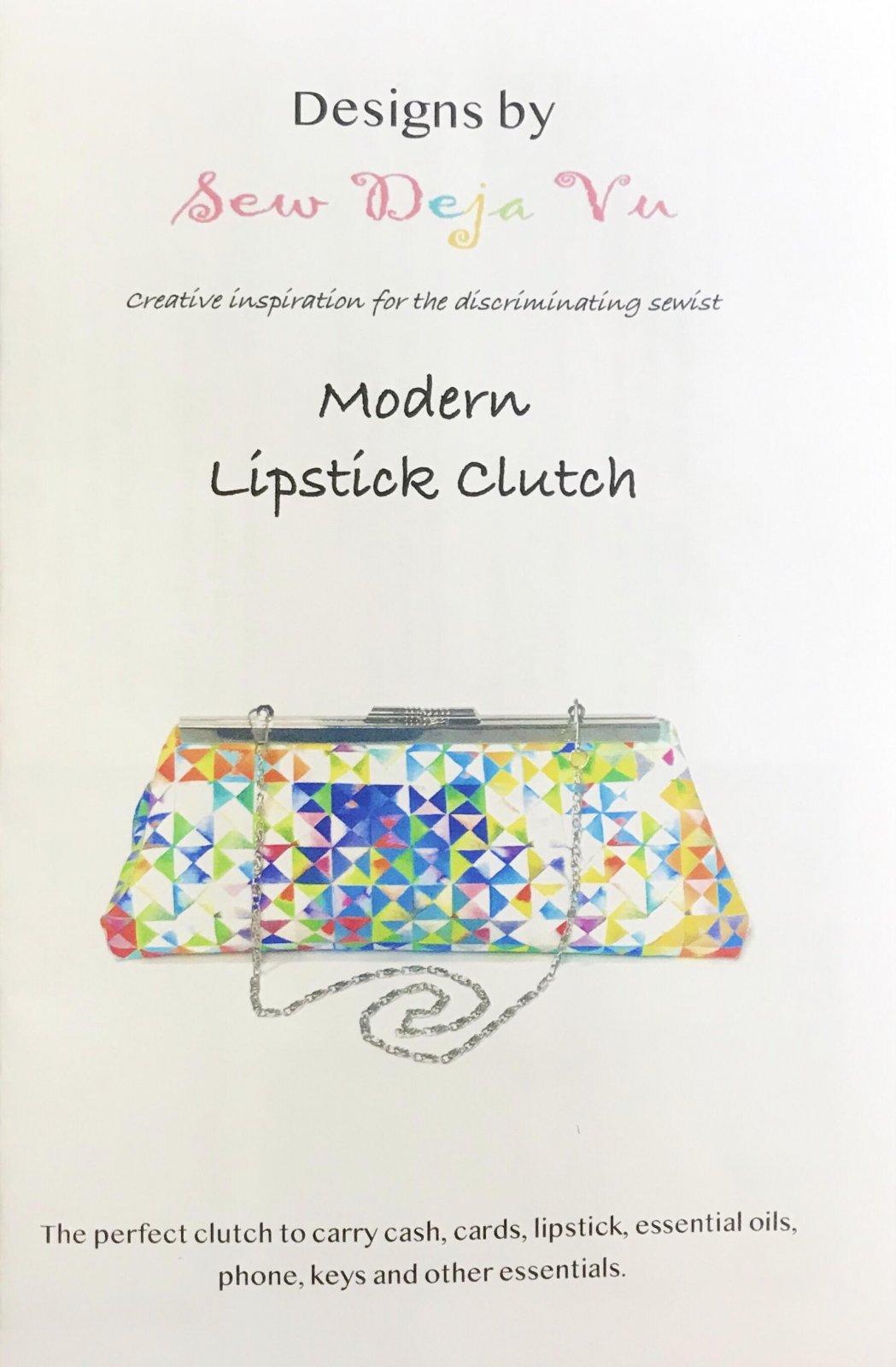 Modern Lipstick Clutch Pattern by Sew Deja Vu