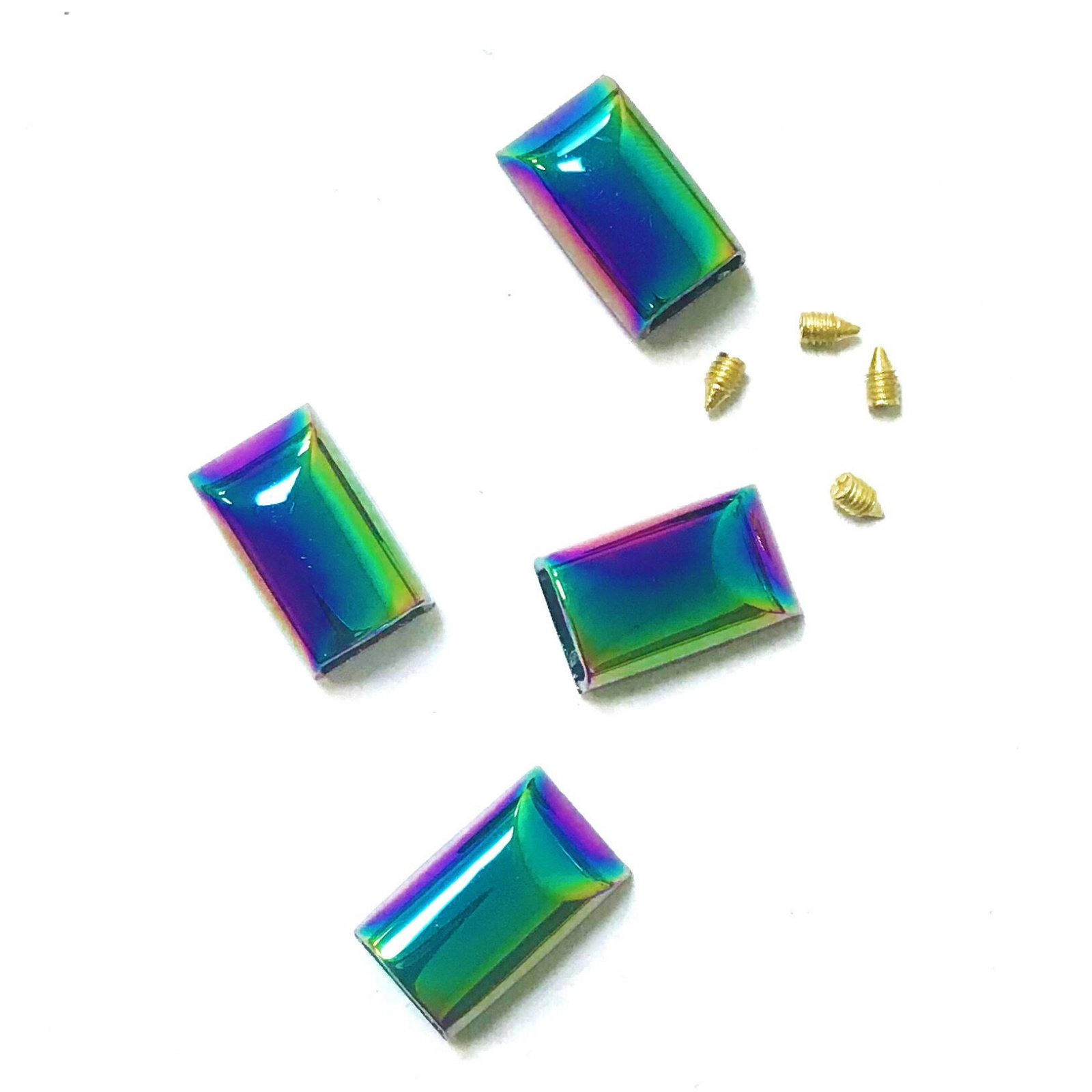 Iridescent Rainbow Zipper Ends