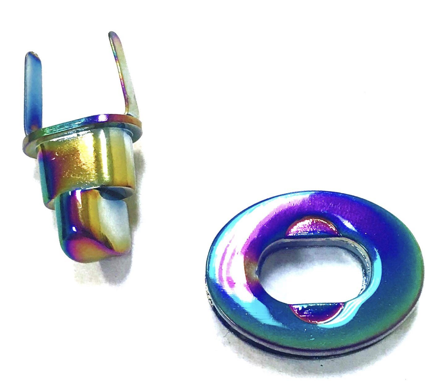 Iridescent Rainbow Oval Twist Lock