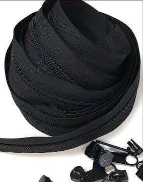 Black Zippers- 3 yards