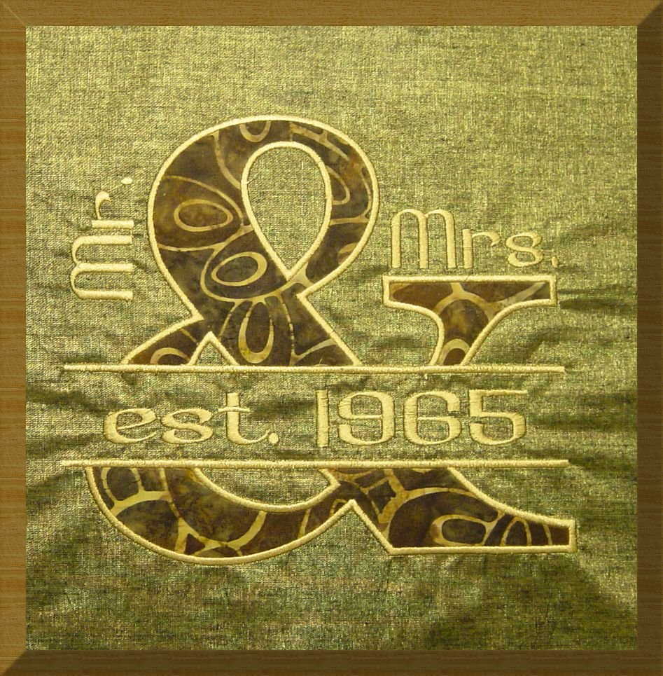 Embroidery Club: Personalized Wedding Anniversary Pillow Top or ...