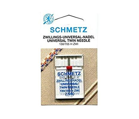 Schmetz Needles - Twin Universal - 2.5 mm - Sz 80/12