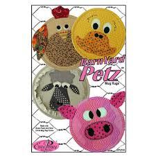 Barn Yard Petz Mug Rugs - Eazy Peazy Quilt Pattern
