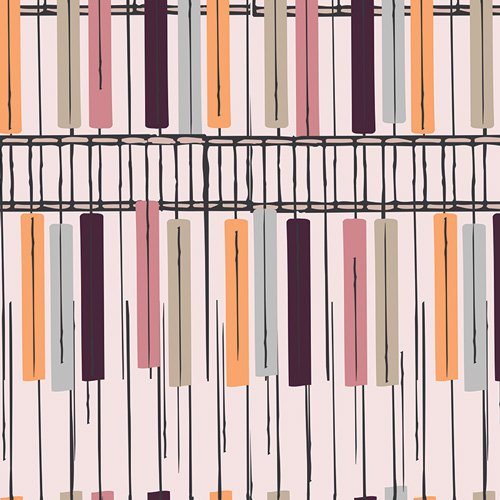 Heart Melodies by AGF Studio for Art Gallery Fabrics - The Key of Pastel