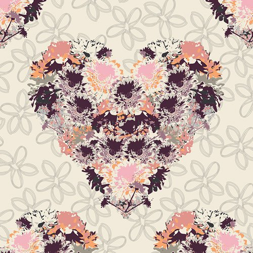 Heart Melodies by AGF Studio for Art Gallery Fabrics - Heart Fields Forever