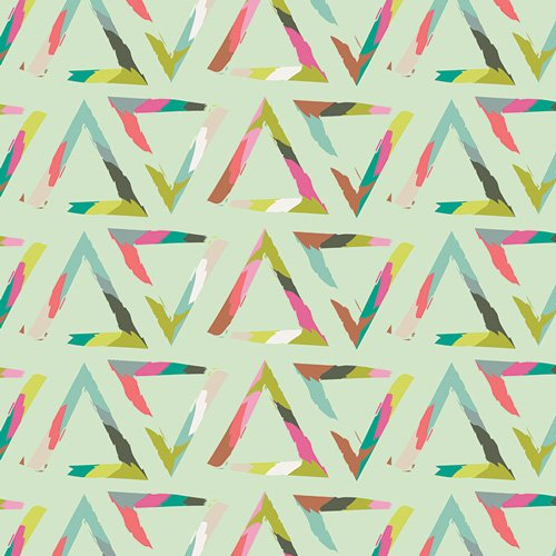 Chalk and Paint by Caroline Hulse for Art Gallery Fabrics - Triangle Brush Varnish