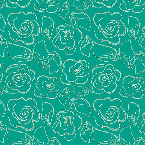 Chalk and Paint by Caroline Hulse for Art Gallery Fabrics - Let's Chalk Green