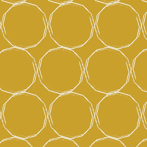 Essentials II by Pat Bravo for Art Gallery Fabrics - Hula Hoops Gold