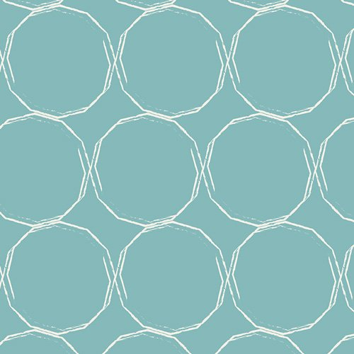 Essentials II by Pat Bravo for Art Gallery Fabrics - Hula Hoops Azure