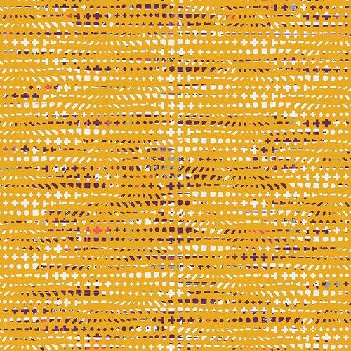 Avant-garde by Katarina Roccella for Art Gallery Fabrics - Fluxus Ochre