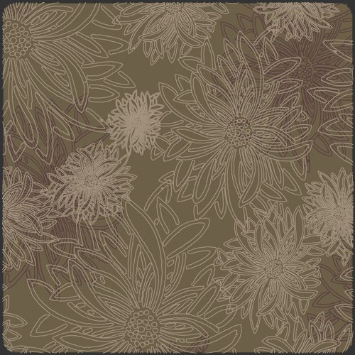 Floral Elements by AGF Studios for Art Gallery Fabrics - Green Wood