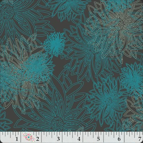 Floral Elements by AGF Studios for Art Gallery Fabrics - Deep Ocean