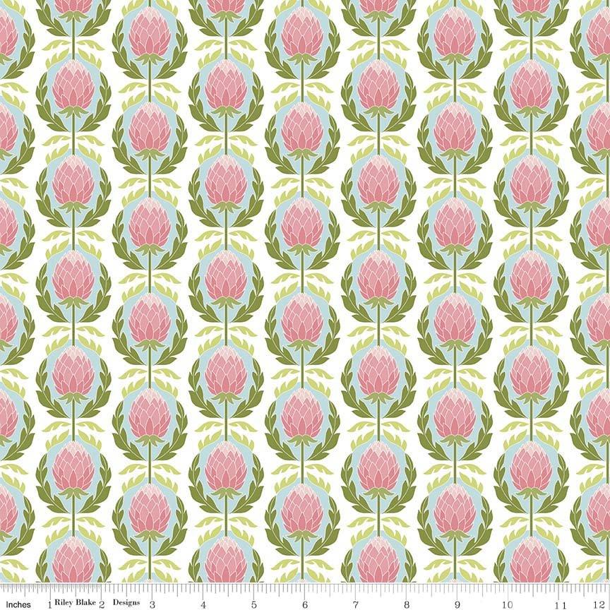 Into the Garden by Amanda Herring for Riley Blake Designs - Garden Artichoke White