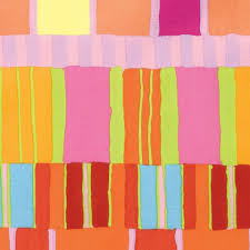 Artisan by Kaffe Fassett - Layered Stripe - Orange for Free Spirit Fabrics #PWKF003