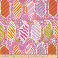 Spring 2016 by Kaffe Fassett - Striped Heraldic - Pink for Rowan Fabric #PWGP153
