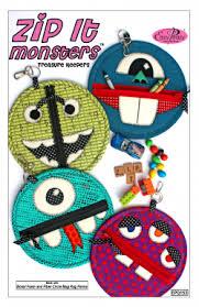 Zip It Monsters Treasure Keepers Pattern