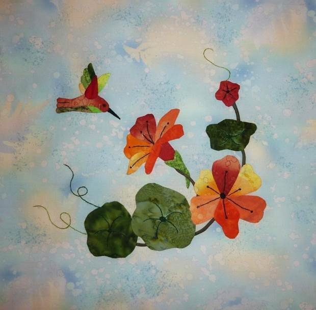 Hummingbird Haven-Nasturtiums