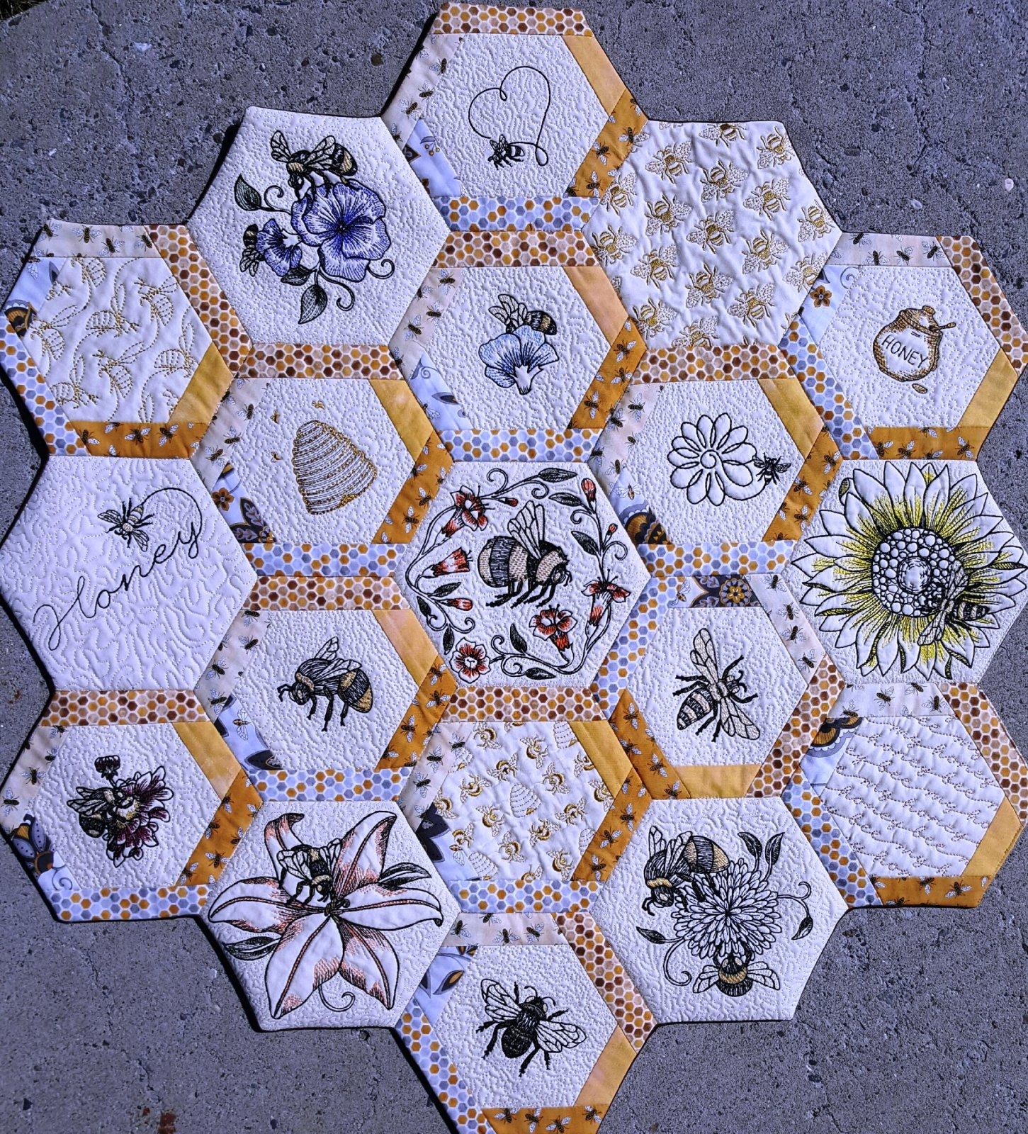 Honeycomb Quilt (Reno)- with Karen Rosselli : honeycomb quilt - Adamdwight.com