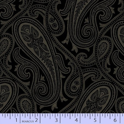 Quartette Collection - dark with scroll pattern