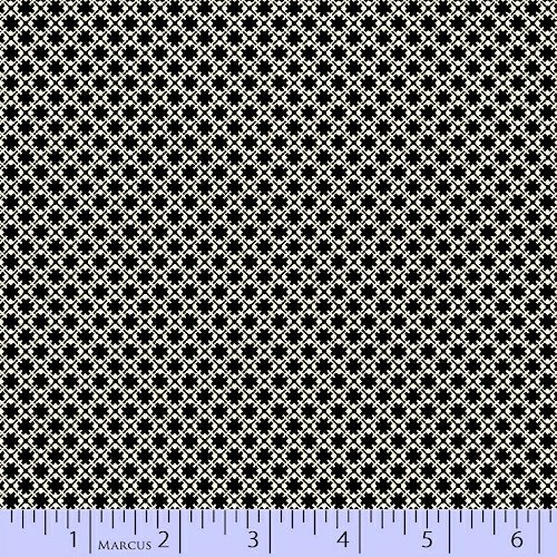 Quartette Collection - black small square pattern