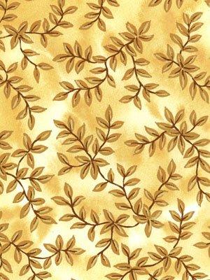 Moose Lake - golden leaves on golden background