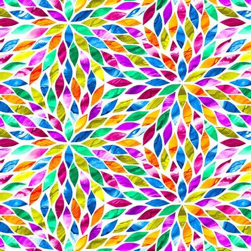 Aziza - light mulitcolored flower pattern